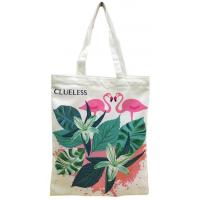 Promotional eco friendly natural handled cotton shopping tote bag,12oz Cheap wholesale fashion canvas rope handle beach Manufactures