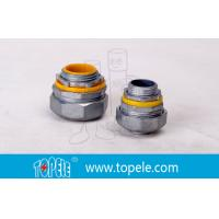 """4"""" Flexible Conduit And Fittings Blue / Yellow Straight Liquid Tight Connector Manufactures"""