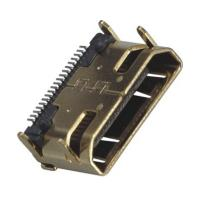 Computer Pin Connectors Mini HDMI 19P Right Angle & SMT LCP Black UL94V-0 ROHS Manufactures