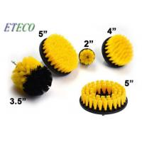 Cordless Home Power Scrubber Brush Set For Bathroom 3.5 Inch Yellow Cone Manufactures