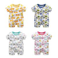 Soft Cute Newborn Baby Clothes Short Sleeve Bodysuit Baby Boys And Girls Manufactures