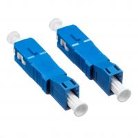 Quality SC Fiber Optic Connectors Adaptor Low Insertion With Blue Plastic Housing for sale