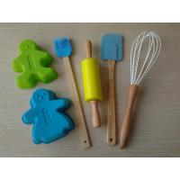 6pcs Non-Stick Silicone Bakeware Set for Kids , FDA Green Silicone Pastry Tools Manufactures