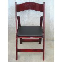 Modern Glossy Chocolate Solid Wood Folding Chair , Chair For Church Ballroom Manufactures