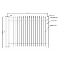 Quality Wrought Iron Fences and Gates PVC Coated Ornamental Wrought 1800L x 1500H for sale