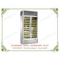 China OP-418 CE Approved LED Light Display Waterproof Fan Red Wine Fridge Manufacturer on sale