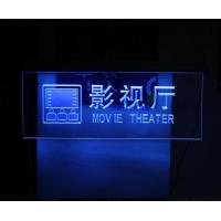 Blue Light Acrylic Advertising Led Display In Hotel / Restroom / Cinema Manufactures