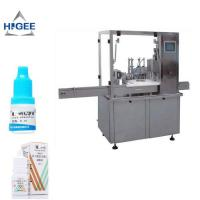 Eye drop filling machine for 10 ml 15 ml 30 ml glass bottle steel ball liquid bottling  and capping and labeling machine Manufactures
