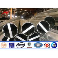 China Iso Electric Power Metal Utility Pole For 132kv Transmission Line Project on sale