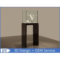 Se - mi Finished Black Glass Jewelry Display Case With Lights 450 X 450 X 1200MM Manufactures