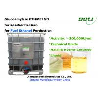 300,000 U / Ml Glucoamylase Enzyme GD From Starch Substrates Into Fermentable Sugars For Ethanol Manufactures