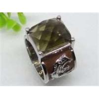 Emerald handmade jewelry Semi Precious Stone Stainless Steel  Rings  with gold Plating Manufactures