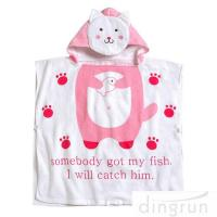 OEM Super Soft Personalized Cotton Hooded Poncho Towels Eco - Friendly Manufactures