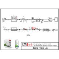 Liquid Bottle Filling Line With Bottle Capping Machine And Double Side Labeling Machine Manufactures