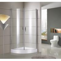 round / sector Corner Shower Enclosures Tempered  glass Material Magnet lock strip Manufactures