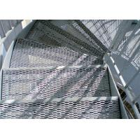2500MM W Steel Expanded Ribbed Mesh Grating Used For Stair Treads And Landings Manufactures