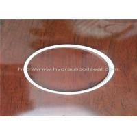 PTFE Hydraulic Cylinder Seals , Pure White Excavator Air Cylinder Seals Manufactures