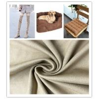 China Strong Stability Fake Suede Fabric Good Drape Property No Shrinkage Or Elongation on sale