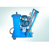 China Hand Push Type Portable Oil Filtration Cart With Europe Brand Pump on sale