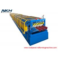 Blue Floor Tiles Manufacturing Machines Roll Forming Line For Bridge Deck Panel Manufactures