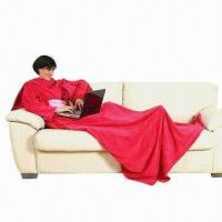 TV Blanket with Sleeves and Pockets, OEM and ODM Orders are Welcome Manufactures