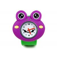 China Purple Frog Silicon Slap Bracelet Wrist Watch , 1 ATM / Chinamovement Watches on sale