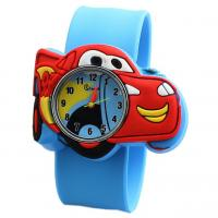 Lovely Cute Silicone Quartz Kids Watch With Car Shaped Dial Customized Logo Manufactures
