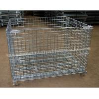 Wire Mesh Foldable Storage Cage1200 X 800mm Material Handling Equipment Manufactures