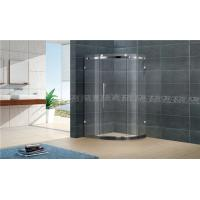 Customized Offset Quadrant Shower Screens Frameless Sliding With Stainless Steel Accessories Manufactures