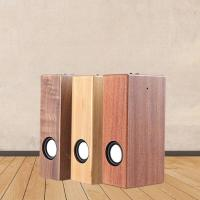 China Wooden Induction Speaker Mobile Phone Wireless mini Retro Computer Speaker Built-in Large Battery SD on sale