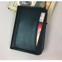 A5 Size Sheep Skin Imitation Leather Document Folder With Front Pocket Manufactures