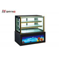 3 Layer Air Cooling Defrost Countertop Cake Display Fridge Showcase For Advertising Manufactures