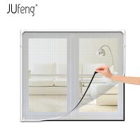 Quality Adjustable Freedom DIY Magnetic Fiberglass Fly Screens Window for sale