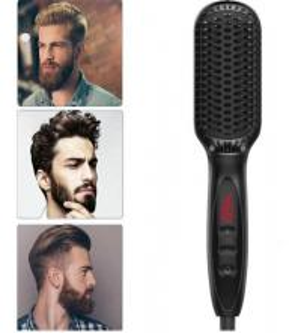 Men Beard Simply Straightener LCD Display Ceramic Electric Hair Styler Fast Straightening Comb Men hair styling tools Manufactures