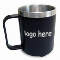 Stainless Steel Mug with AS Outer Material, Skid-resistant Bottom and 8oz Capacity Manufactures