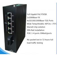 Buy cheap 5 ports PoE Full Gigabit Unmanaged Industrial Ethernet Switches P505B from wholesalers