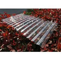 Transparent Corrugated Polycarbonate Sheets For Roofing UV Resistant for sale