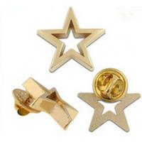 3D cut out star shape die casting Pin Badge Manufactures