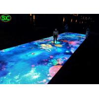 China P6.25 portable led video dance floor Outdoor waterproof for Party on sale