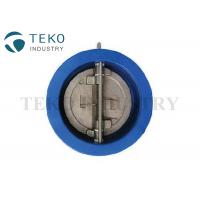 PN10 Duo Plate Wafer Check Valve For Water Works Cast Iron Body SS Disc Manufactures