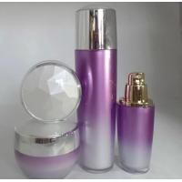 China 30ml 100ml empty plastic cosmetic bottle with gold pump on sale