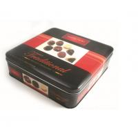 Promotional Customized Desgin Fancy Metal Square Tin Box Chocolate Tin Box With Stamping LOGO Manufactures