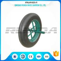 Line Pattern Solid Rubber Wheelbarrow Wheels14 Inch Hollow Axle Powder Coated Rim Manufactures