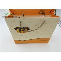 Eco Friendly Cardboard Shopping Bags With Round String Handles , Printed Your Own Logo Manufactures