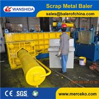 China Hand Valve Control or PLC control Scrap Metal Baler/Metal Baling Press used to concentrate iron and brass on sale