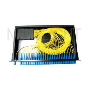 China 1*8 1*16 1*32 19 Inch Fiber Optic Splitter Types / Rack Mount Fiber Splitter Box on sale