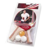 Two bats and Three Balls Table Tennis Set with Blister Package for Recreation