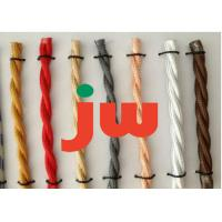 China Colorful Fabric Vintage Braided Electrical Cable With AMP Connectors , 300V on sale