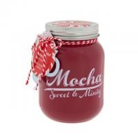 Christmas Natural Soy Wax Candles Custom Milk Scented Candle Jar With Metal Lid Manufactures