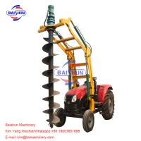 Lifting Tractor Operated Post Hole Digger / Highway John Deere Auger Post Hole Digger Manufactures
